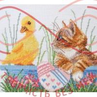 Набір для вишивання хрестиком - П4-019/Р Маленькі друзі