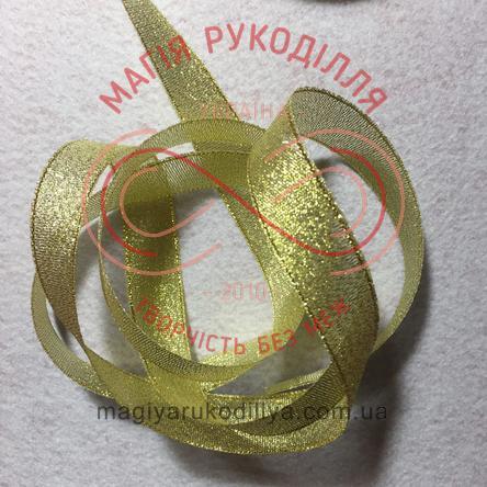 Стрічка парчова 6мм - золотистий