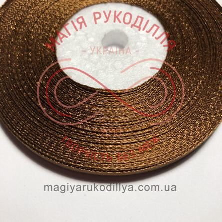 Стрічка атласна 6мм/32,9 (Китай) - відтінки коричневого