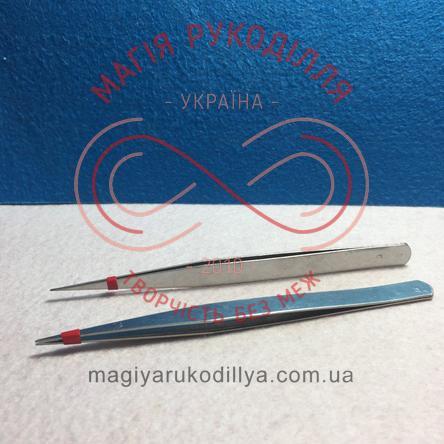 Пінцет металевий 13,5см рівний