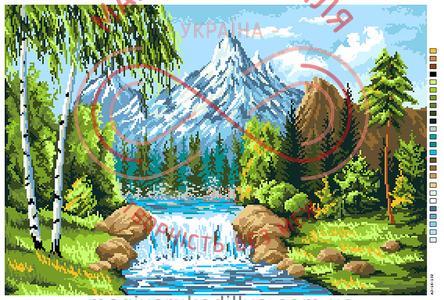 Схема на канві для вишивання хрестиком картина - А3-16-132