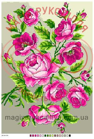 Схема на канві для вишивання хрестиком картина - А3-16-133