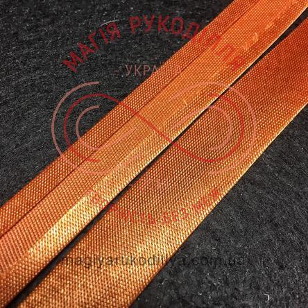 Коса бейка атласна 15мм (Китай) - коричневий