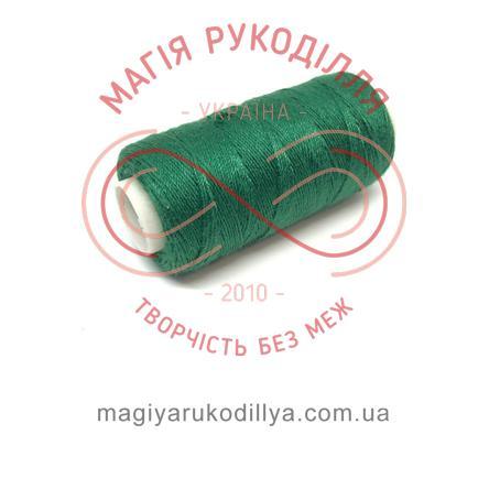 Нитка джинсова - відтінки зеленого 13838