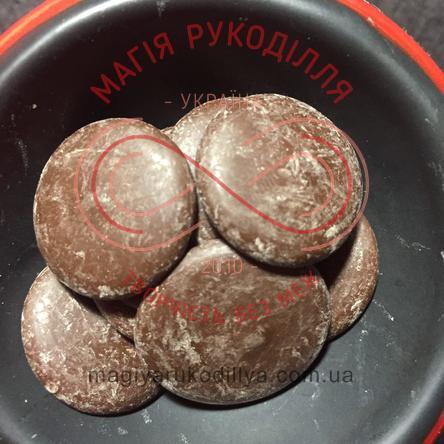 Кондитерські складові шоколадна глазур кругла - коричневий