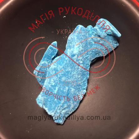 Кондитерські складові шоколадна глазур шматками - блакитний