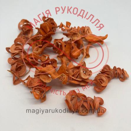 Природний матеріал сухоцвіт декоративний пелюстки (40гр) - помаранчевий