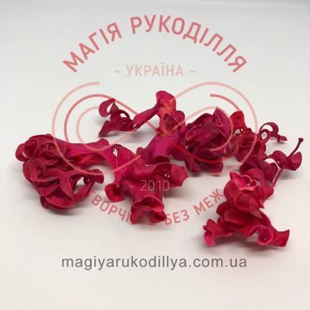 Природний матеріал сухоцвіт декоративний пелюстки (40гр) - малиновий