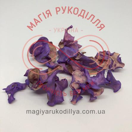 Природний матеріал сухоцвіт декоративний пелюстки (40гр) - фіолетовий