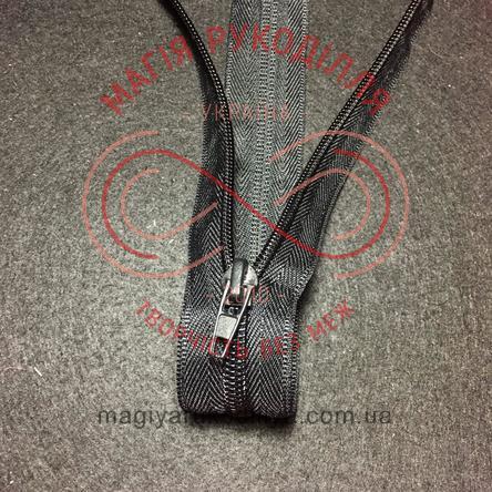 Блискавка роз'ємна спіраль (Китай АТА) 40см (тип 5) - чорний