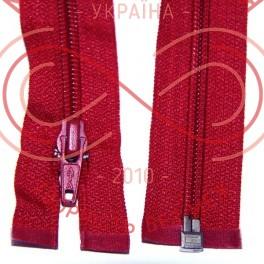 Блискавка роз'ємна спіраль (Китай АТА) 40см (тип 5) - відтінки червоного