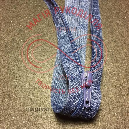 Блискавка роз'ємна спіраль (Китай АТА) 40см (тип 5) - відтінки синього