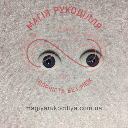 Оченятка  для ляльок 14мм*10мм - синій