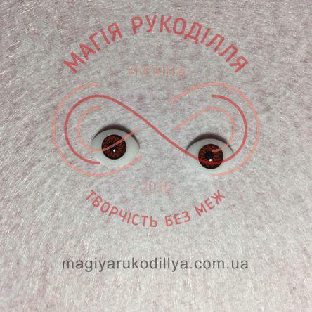Оченятка  для ляльок 14мм*10мм - карий