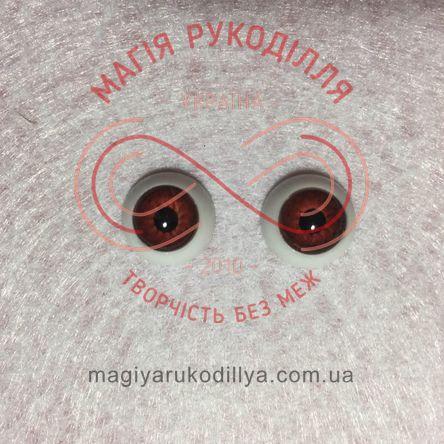 Оченятка для ляльок d12мм - карий