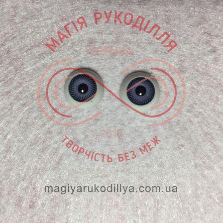 Оченятка для ляльок d12мм - сіро-синій