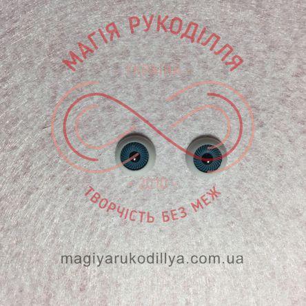 Оченятка для ляльок d12мм - синій