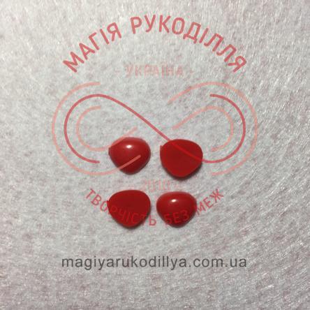 Носик трикутний клейовий 11мм*10мм - червоний
