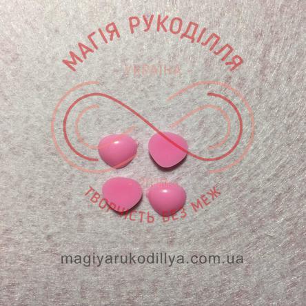 Носик трикутний клейовий 11мм*10мм - рожевий