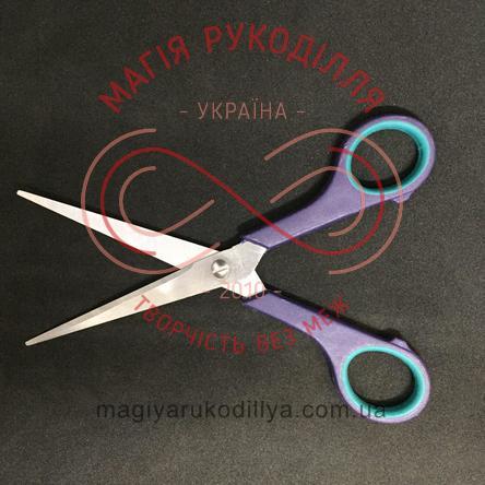 Ножиці кравецькі пластикова ручка довжина леза 7,5см, загальна довжина 17см - №7