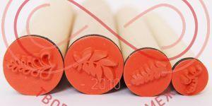 Набір штампів резинових Heyda (Німеччина) 4шт. - листочки
