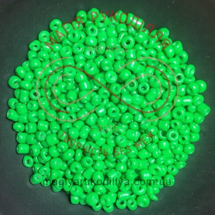 Бісер Китай 12/ваговий - №042/5512 зелений перлистий