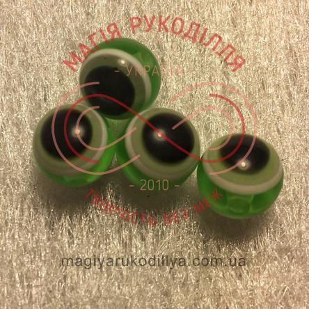 Оченятка двосторонні d8мм - зелений