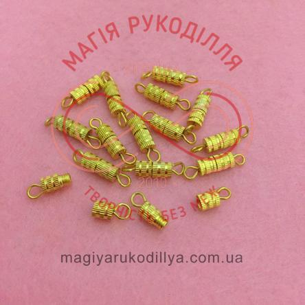 Застібка-гвинт d4мм*15мм (дві складові) - золотистий