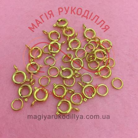 Карабін круглий d5мм (дві складові) - золотистий