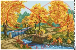 Схема на канві для вишивання хрестиком картина - А2-16-033