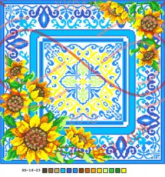 Схема на канві для вишивання хрестиком подушка - П3-16-23