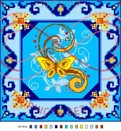 Схема на канві для вишивання хрестиком подушка - П3-16-25