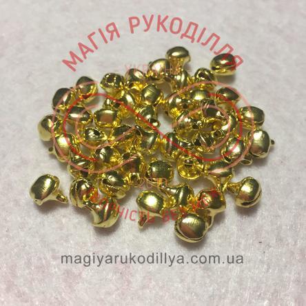 Дзвоник металевий d6мм - золотистий