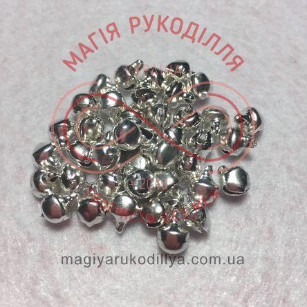 Дзвоник металевий d6мм - сріблястий
