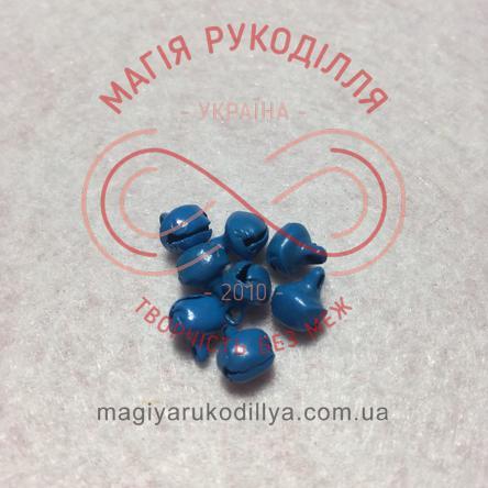 Дзвоник металевий d6мм - синій