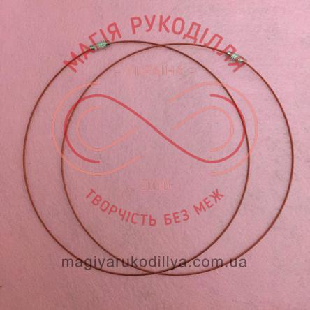 Основа для кольє металева із замочком d14,5см товщина 1мм - червоний