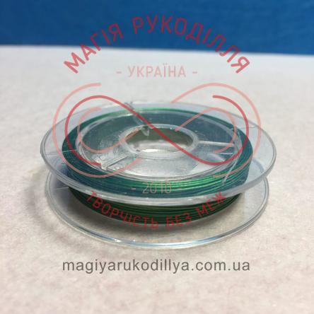 Біжутерний дріт мідний Margo d0,27-0,35мм/10м - зелений