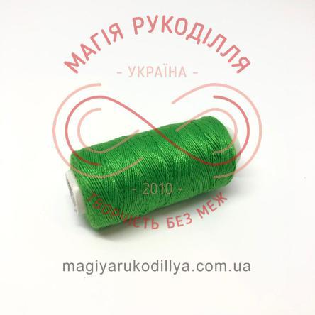 Нитка джинсова - відтінки зеленого 13854