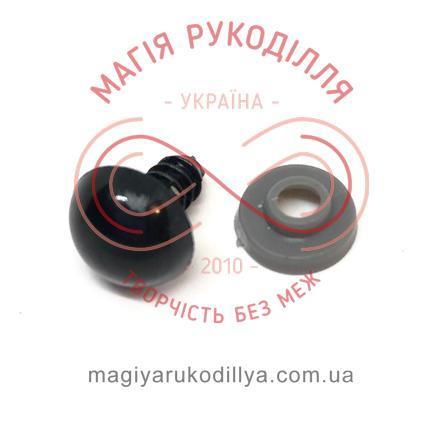 Носик/оченятко круглий на ніжці d12мм (2 складові) - чорний