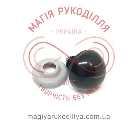 Носик/оченятко круглий на ніжці d14мм (2 складові) - чорний