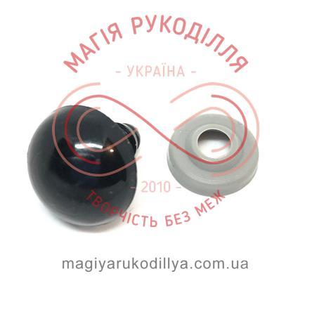Носик/оченятко круглий на ніжці d16мм (2 складові) - чорний
