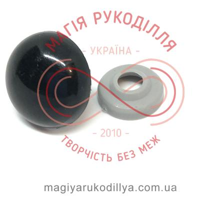 Носик/оченятко круглий на ніжці d18мм (2 складові) - чорний