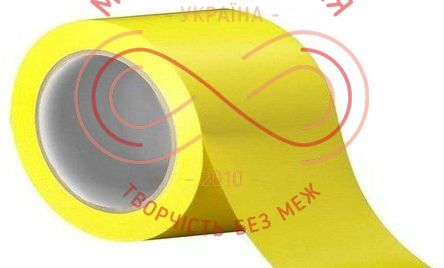 Скотч кольоровий 45мкр 48мм*40м - жовтий