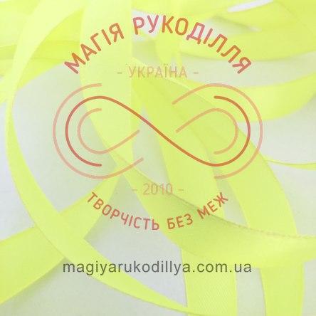 Стрічка Peri атласна 51мм (Китай) - №139 відтінки жовтого неонового
