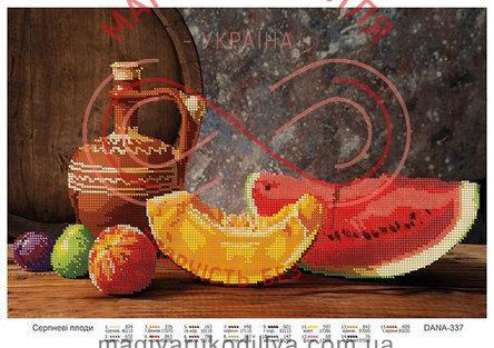 Схема для вишивання бісером картина габардин А3 - DANA-337 Серпневі плоди