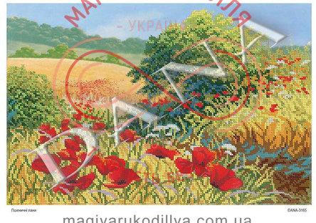 Схема для вишивання бісером картина габардин А3 - DANA-3165 Пшеничні лани