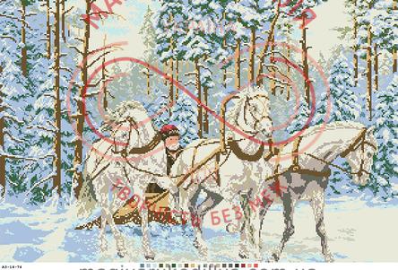 Схема на канві для вишивання хрестиком картина - А3-14-74