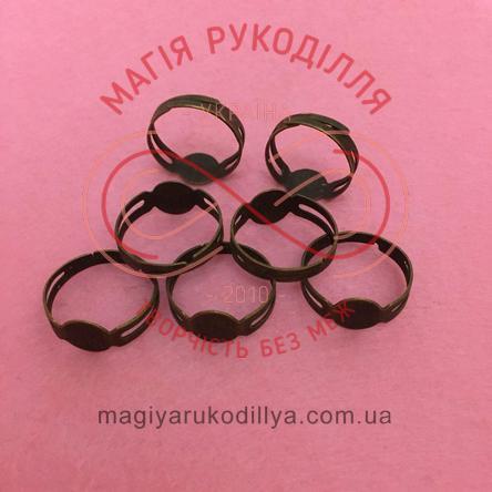 Основа для каблучки сталь,регульований розмір,платформа d0,8см стандарт - бронзовий