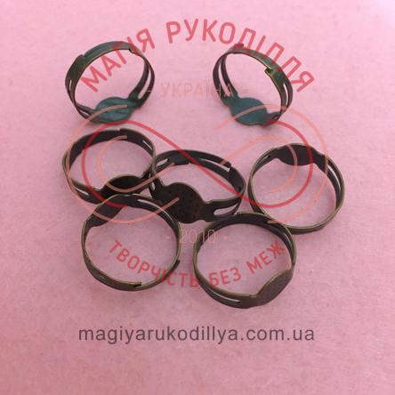 Основа для каблучки сталь,регульований розмір,платформа d0,8см стандарт - мідний