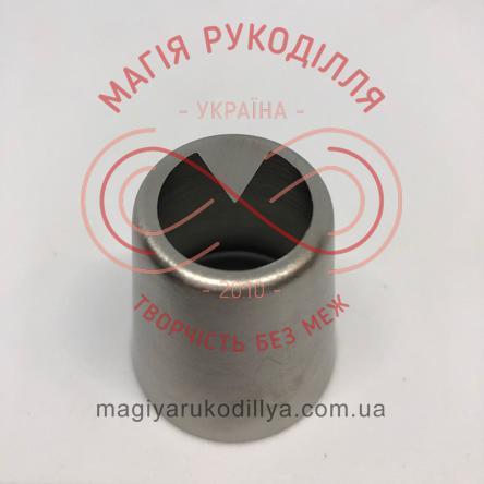 Кондитерський інструмент насадка нержавійка безшовна d2мм листочок №16